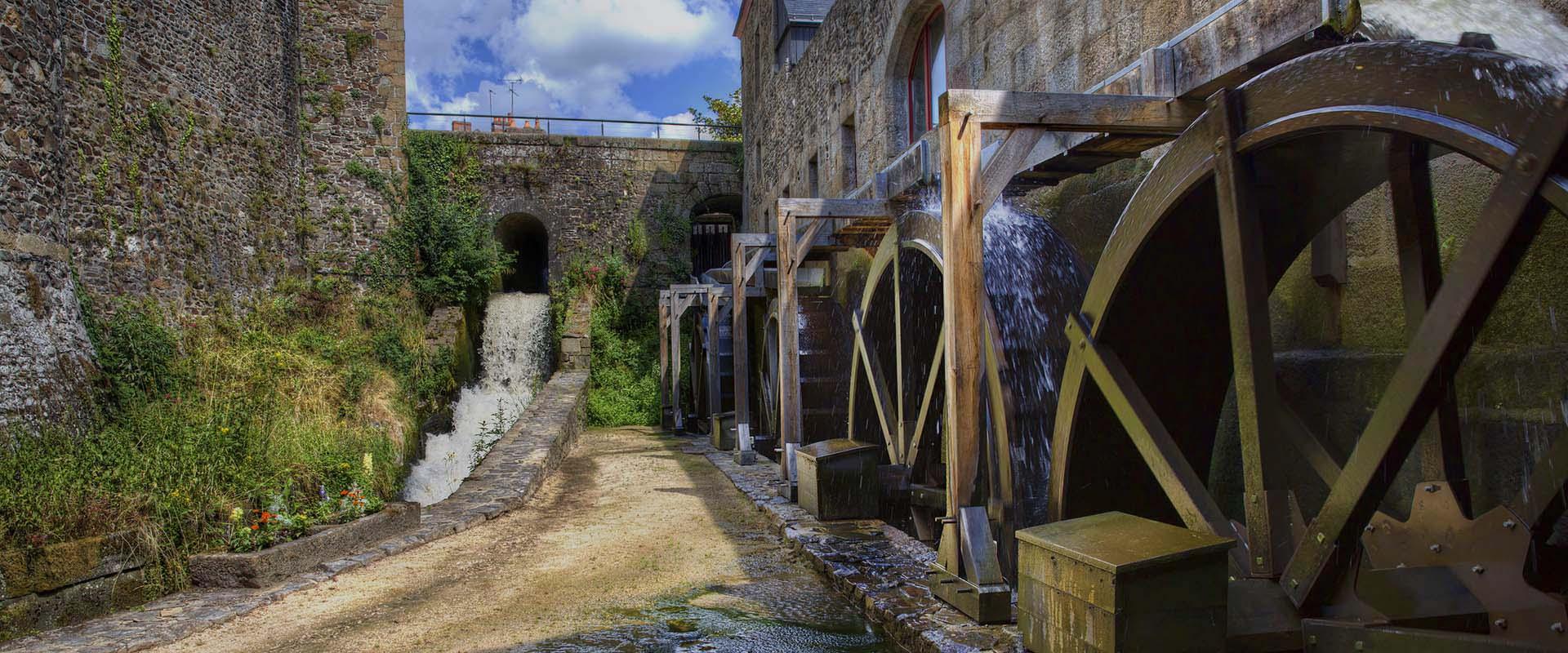 moulin, projet, production électricité, moulin à eau