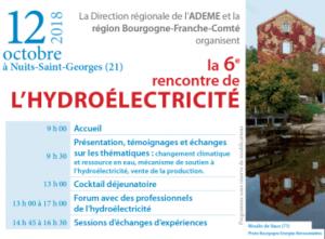 visuel rencontre hydroélectricité Bourgogne