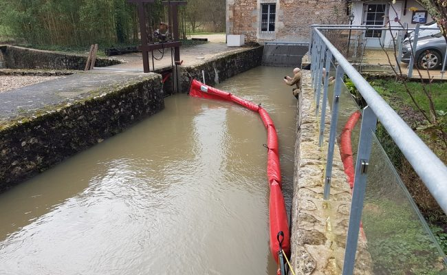 Moulin de Trancart – barrage flotant
