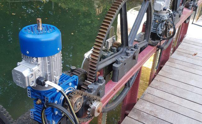 Moulin de Pidoux – Motorisation des vannes